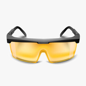 plastic yellow safety glasses